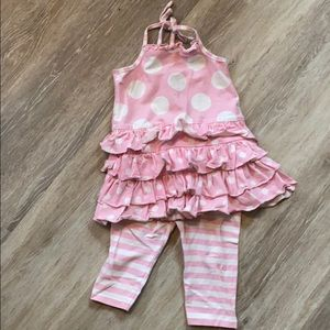 Bonnie Jean 2t pink polka dot 2 piece outfit